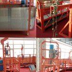 painted aluminum suspended wire rope platform 500kg / 630kg / 800kg / 1000kg