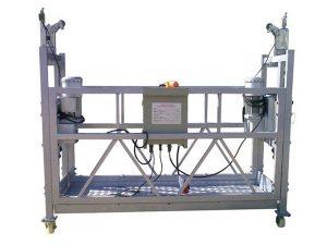 steel / aluminum suspended platform cradle , 630kg suspended access equipment