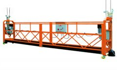 motorized scaffold suspended aerial working platform with construction lift hoist